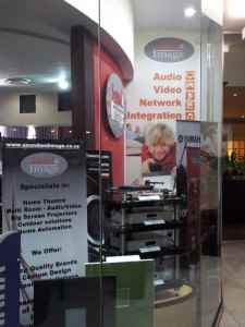 Sound and Image Sandton window show attractive audio products