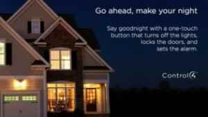 Control4 Smart homes Goodnight One touch
