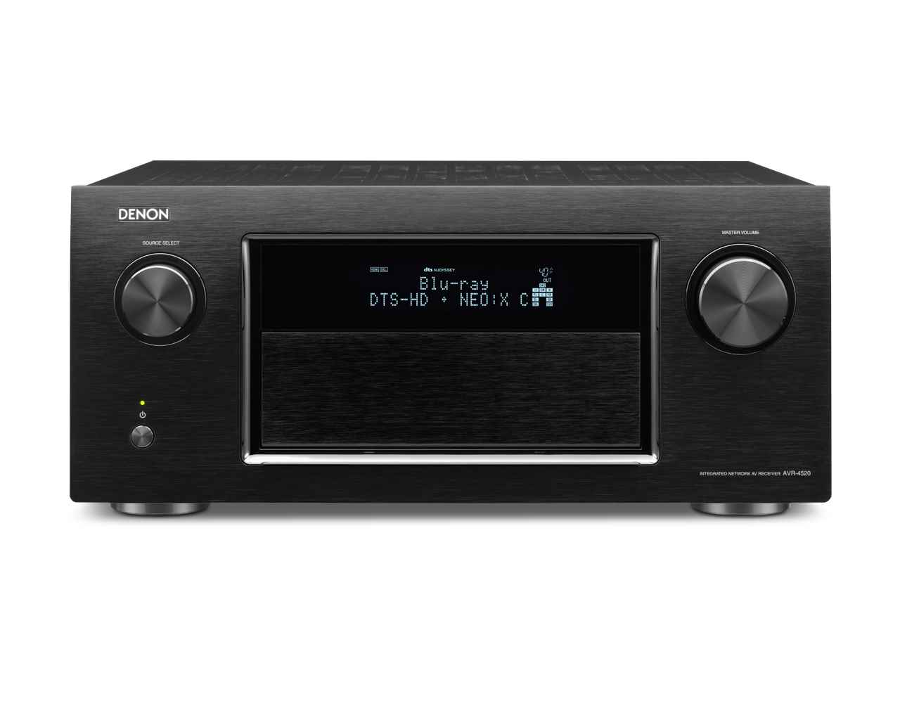 Black Denon audio video component
