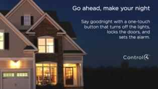 home automation control the lights and alarm with one touch